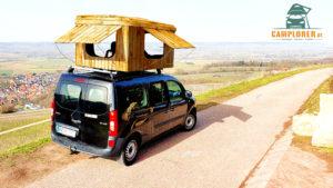 Dachzelt aus Holz